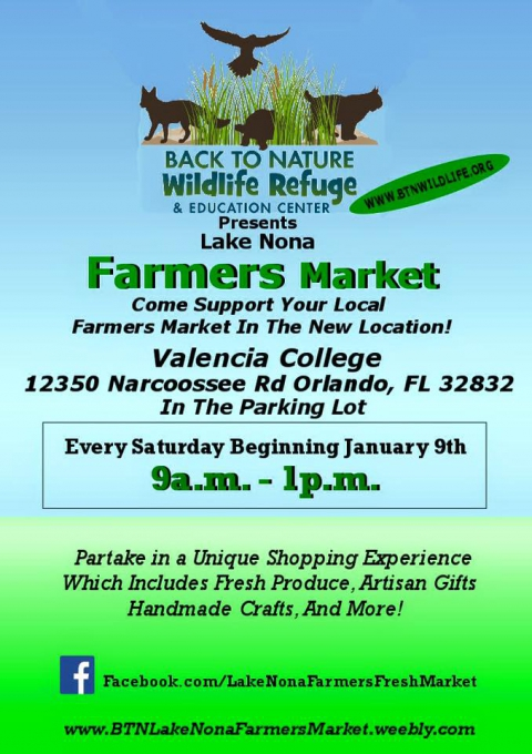 BTN Lake Nona Farmer's Market summer hours and NEW web page!